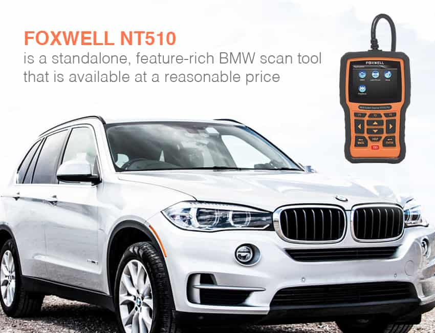 Foxwell NT510 is one of the best bmw scan tool