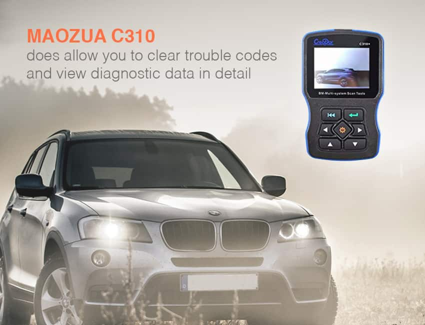 Maozua 310 is one of the best scan tool for bmw