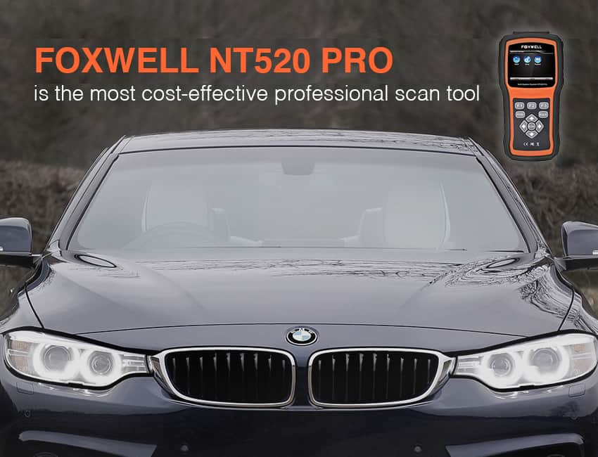 Foxwell NT520 is one of the best bmw diagnostic scan tool