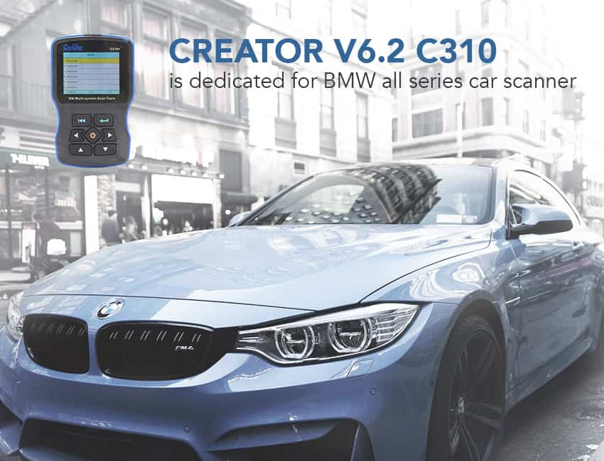 Creator C310 is a perfect BMW scan tool for DIYers.