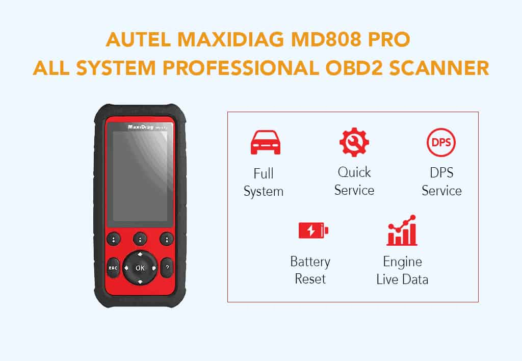 Autel MaxiDiag MD808 Pro All System Professional OBD2 Scanner