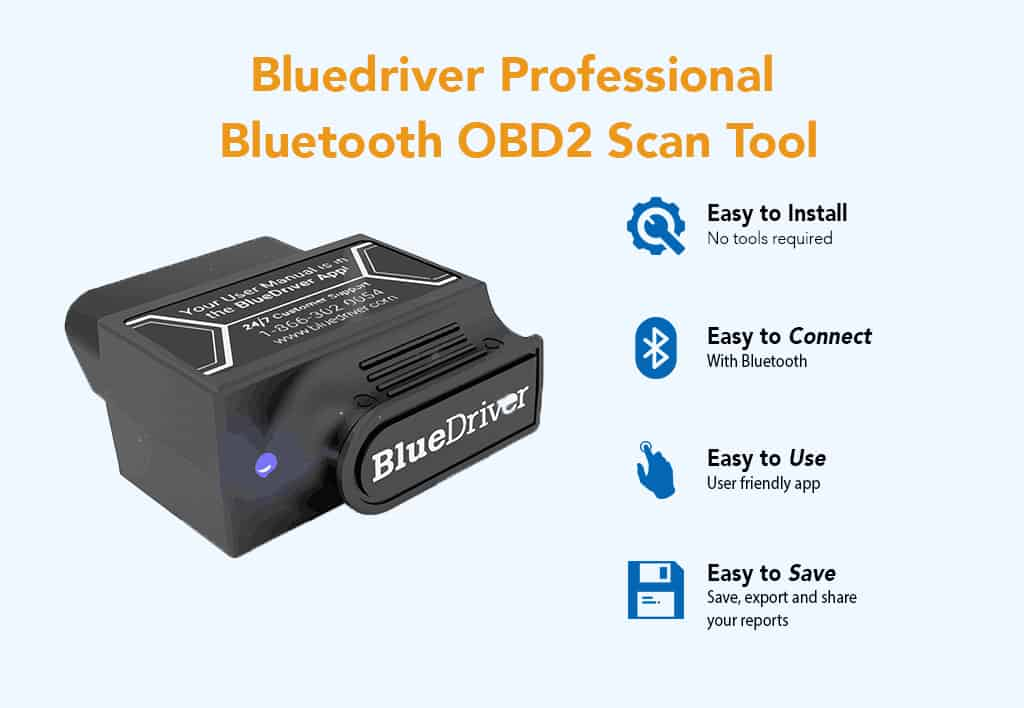 Bluedriver Professional Bluetooth OBD2 Scan Tool