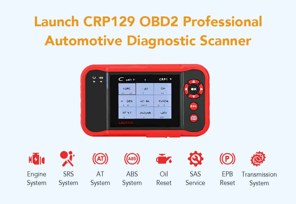 Launch CRP129 OBD2 Professional Automotive Diagnostic Scanner