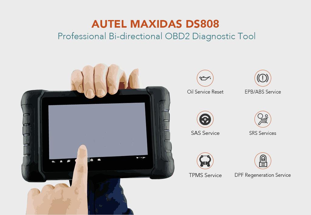 Autel Maxidas DS808 Professional Bi-directional OBD2 Diagnostic Tool