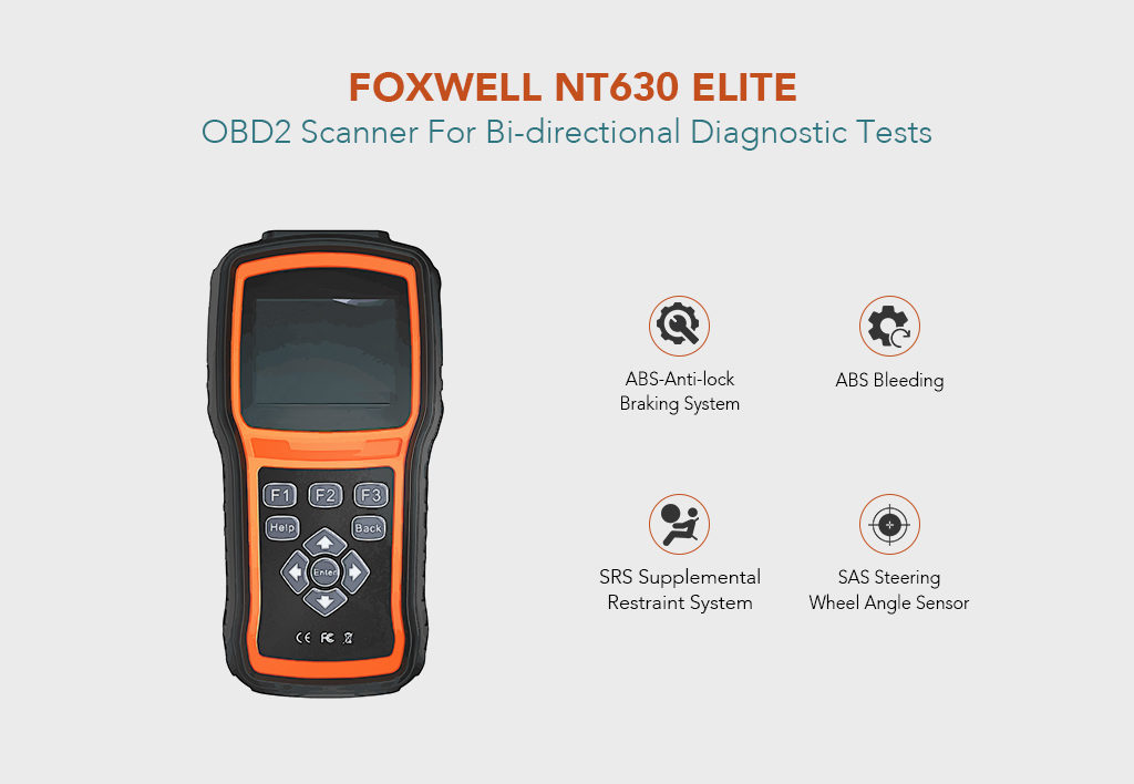 FOXWELL NT630 Elite OBD2 Scanner For Bi-directional Diagnostic Tests