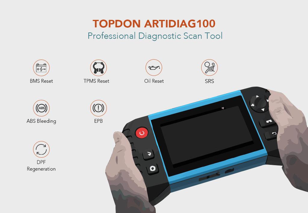 TOPDON ArtiDiag100 Professional Diagnostic Scan Tool