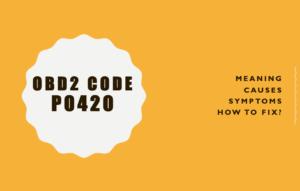 error code p0420