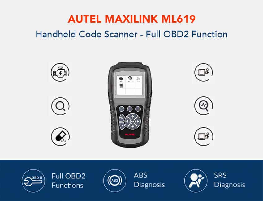 Autel MaxiLink ML619 CAN OBD2 Scanner Function