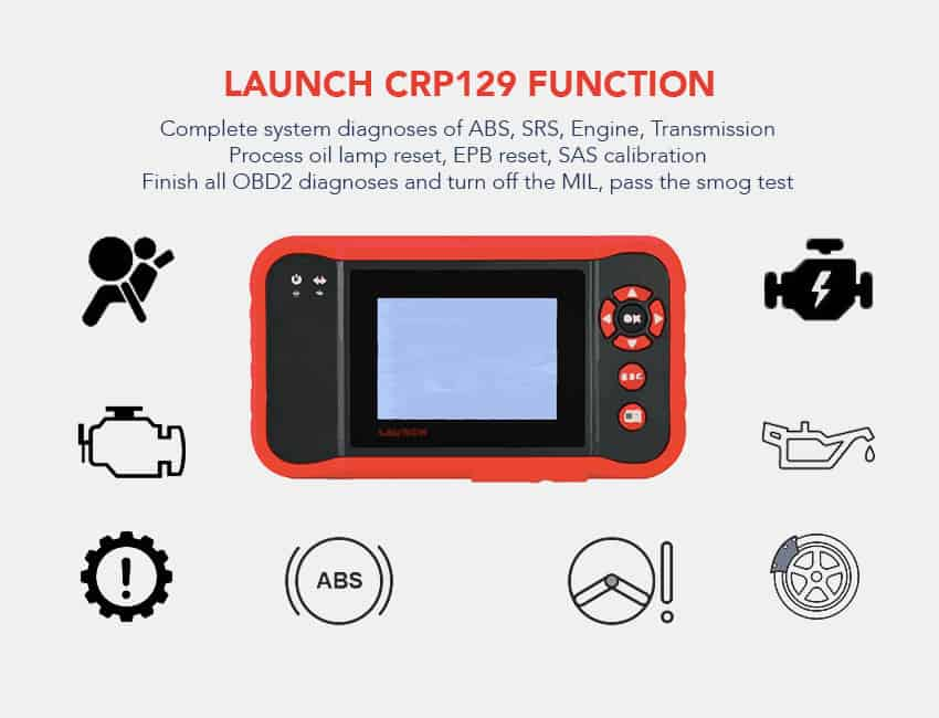 Launch CRP129 Code Reader Diagnostic Tool OBD2 Scanner Function