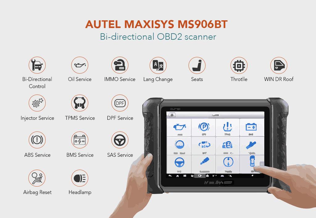 Autel Maxisys MS906BT Bi-directional OBD2 scanner