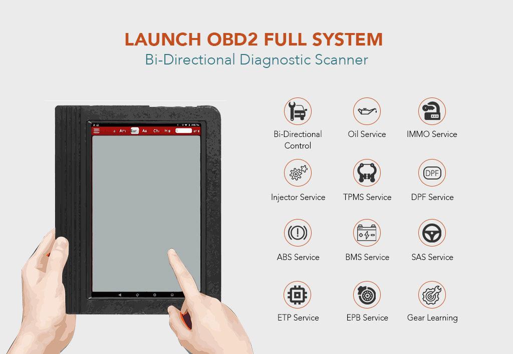LAUNCH OBD2 Full System Bi-Directional Diagnostic Scanner