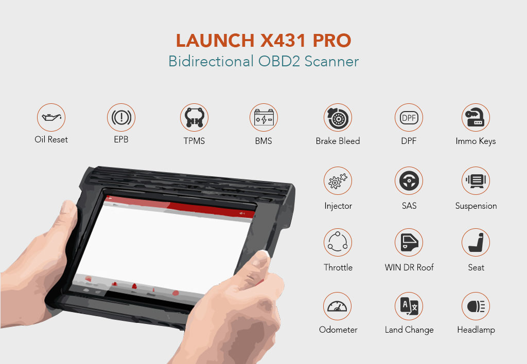 LAUNCH X431 PRO Bidirectional OBD2 Scanner