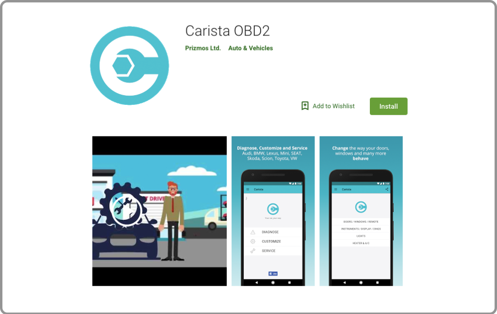 Carista OBD2 App for android