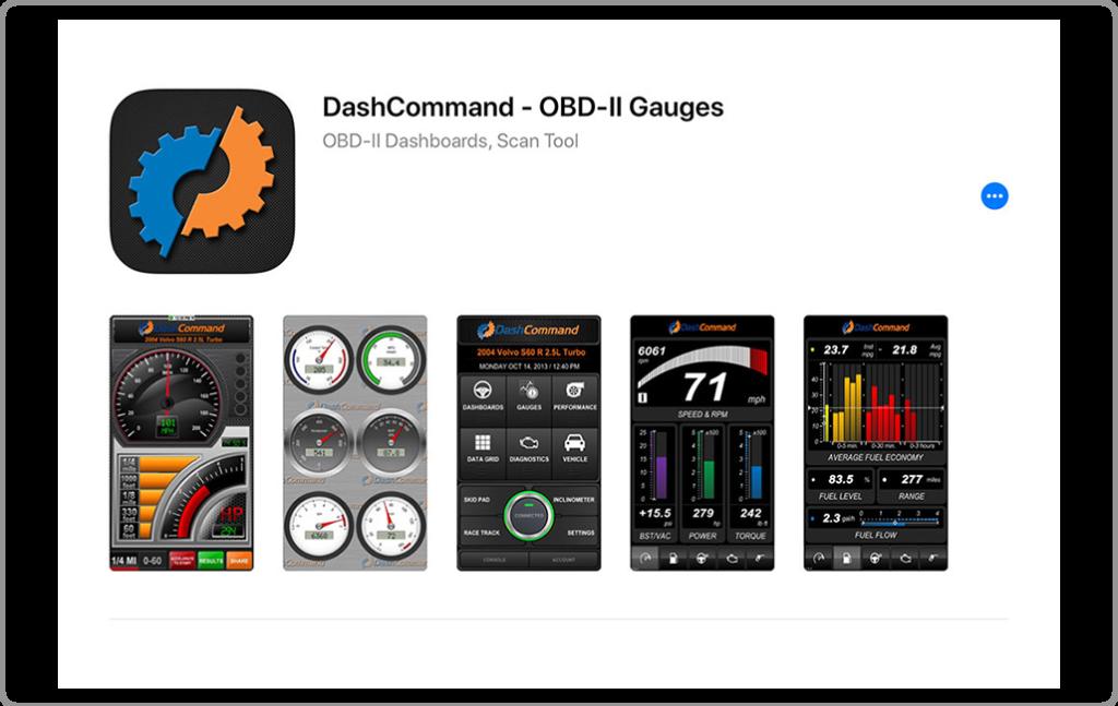 DashCommand OBD2 app iphone