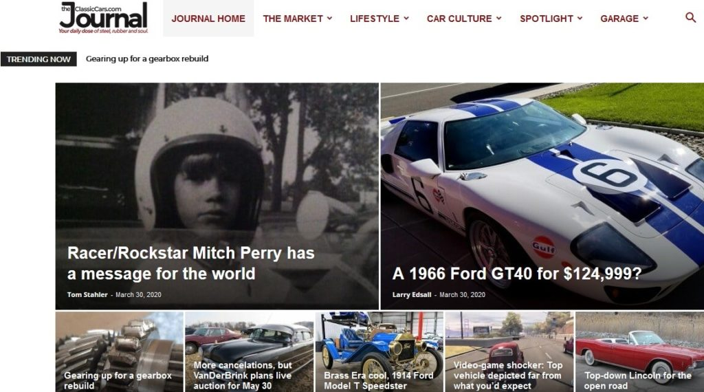 Classic Car Journal Blog is one of the best auto blogs about car