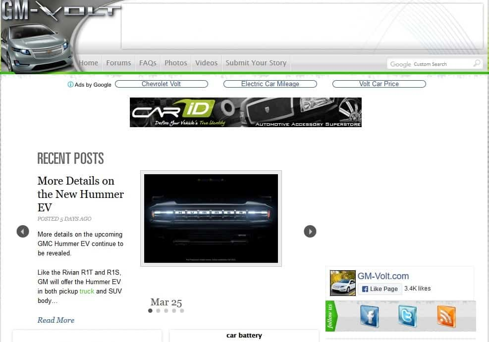 Gm-Volt Checy Volt Electric Car Site is one of the best auto blogs about car